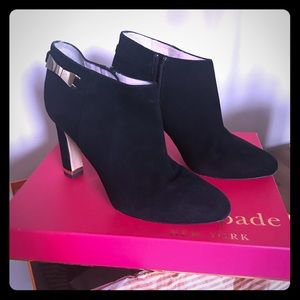 Kate Spade suede ankle boots with bow